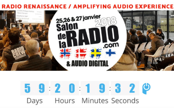 Le Salon de la Radio aura lieu les jeudi 25, vendredi 26 et samedi 27 janvier 2018