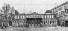 Antenne du premier poste en ondes   moyennes en France: la station de   l?ESPTT (Ecole superieure des PTT),   en janvier 1923.