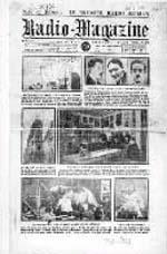 Le premier numero de  Radio-Magazine  (21 octobre 1923)