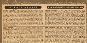 Radiodiffusion Nationale (Vichy) : 23 mai 1942.