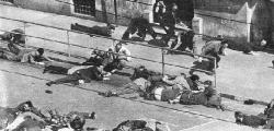 La fusillade du 26 mars 1962, rue d? Isly a  Alger, et ce cri poignant de ?Halte au feu?  sur Europe n°1 (reportage radio-tele de  Rene Duval).