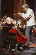 Mstislav Rostropovitch    et Leonard Bernstein