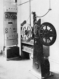 Le BLATTNERPHONE, enregistreur magnetique sur bande metallique (1930)