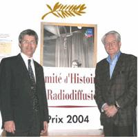 Les laureats des Prix 2004 du CHR:  Pierre-Marie Heron et Michel Meyer