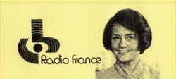 Nouvelle societe Radio France: un logotype (dessine par Gerard Lussault), un nouveau patron, Jacqueline Baudrier.