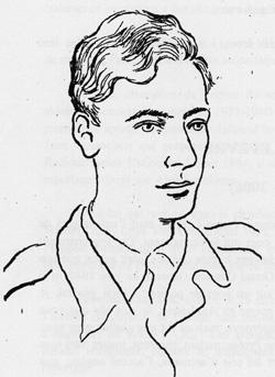 Pierre Lefevre, de l'equipe de Radio-Londres  (croquis de Jean Oberle)